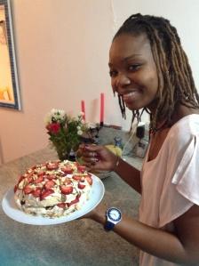 Cashew Pavlova cake/stack