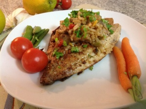 Risotto and fish
