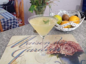 Apple, mint and ginger Martini