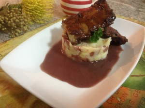 Savoury pap and sticky ribs