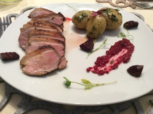 Duck with citrus sauce