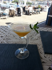 Passion fruit and vanilla martini