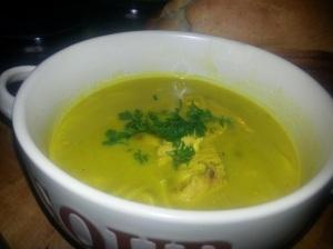 Chicken/ noodle and lentil soup