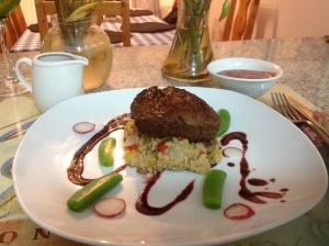 Beef fillet & couscous