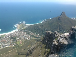 View down Table Mountain
