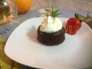 Lindt dark chocolate and coffee fondant