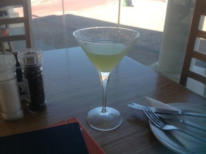 Pear, Rocket & Litchi Martini