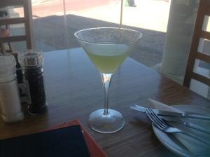 Pear, Rocket & Litchi Martini