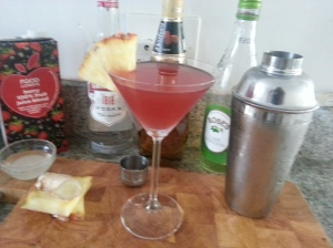 Berry ginger martini
