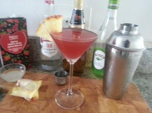 Berry ginger martini