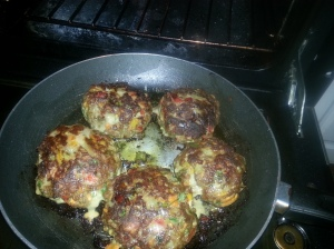 Pan searing the patties