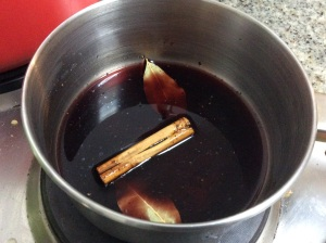 Making the red wine jus