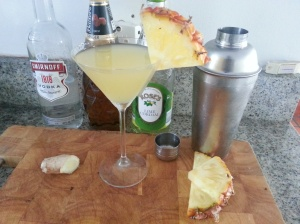 Pineapple and ginger martini