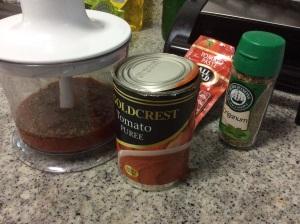The tomato sauce
