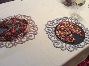 Pizza dinner served