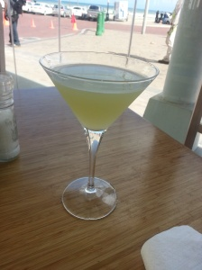 Pear, Litchi & Rocket martini