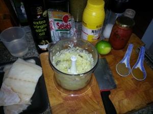 The ingredients, blitz veg