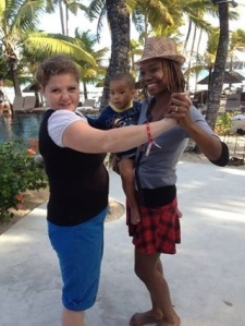 Dancing samba in Mauritius!
