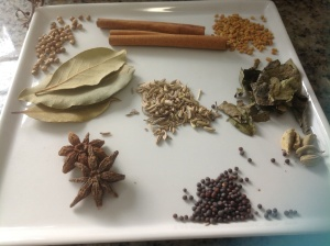 Dried spices for curry