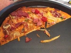Clean pizza cut
