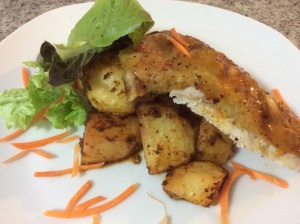 Lemon/garlic/ and ginger chicken with roast potatoes