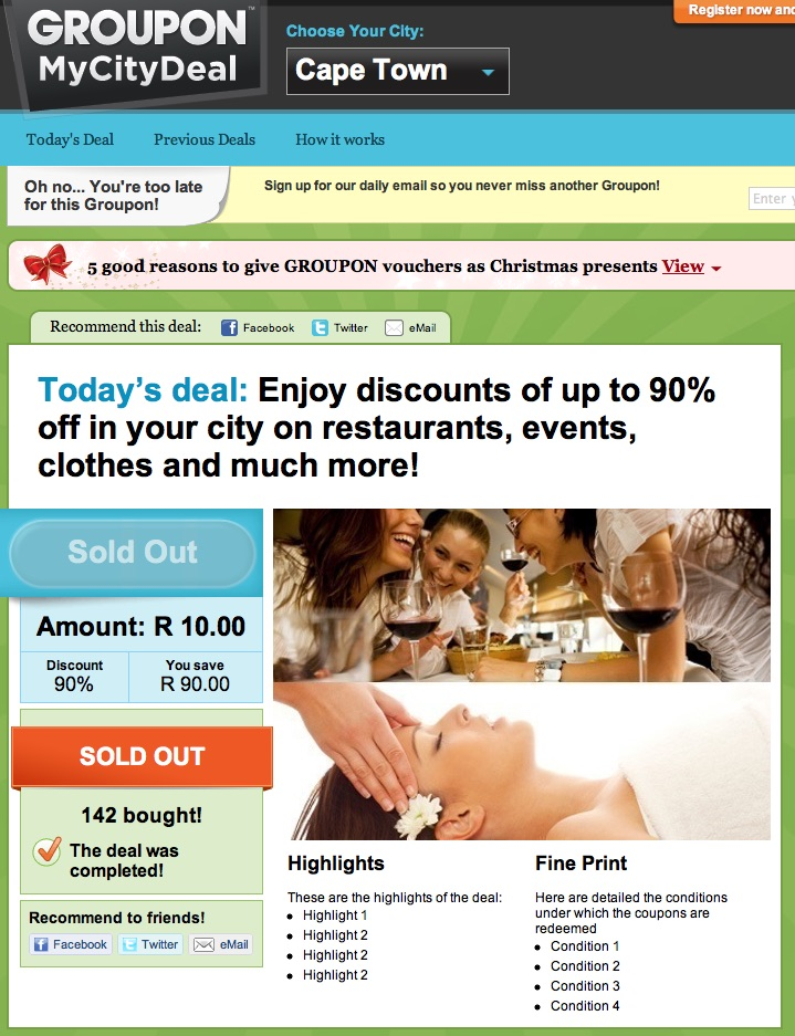 Value deals: Groupon? Daddy deals? Use them, don't let them